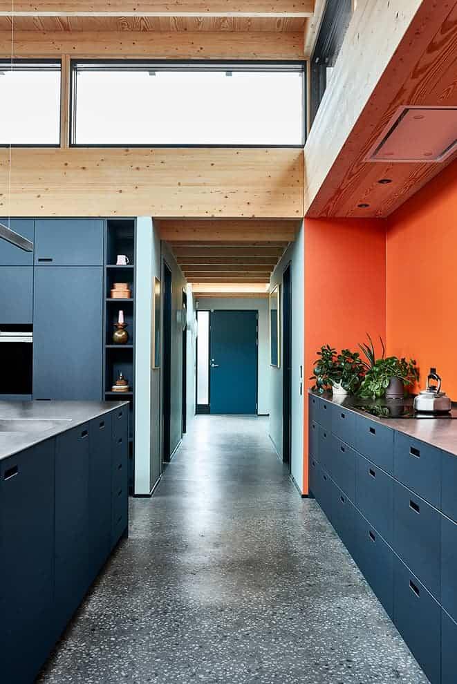 Designer kitchen – collection Linoleum, couleur Smokey Blue – &Schufl