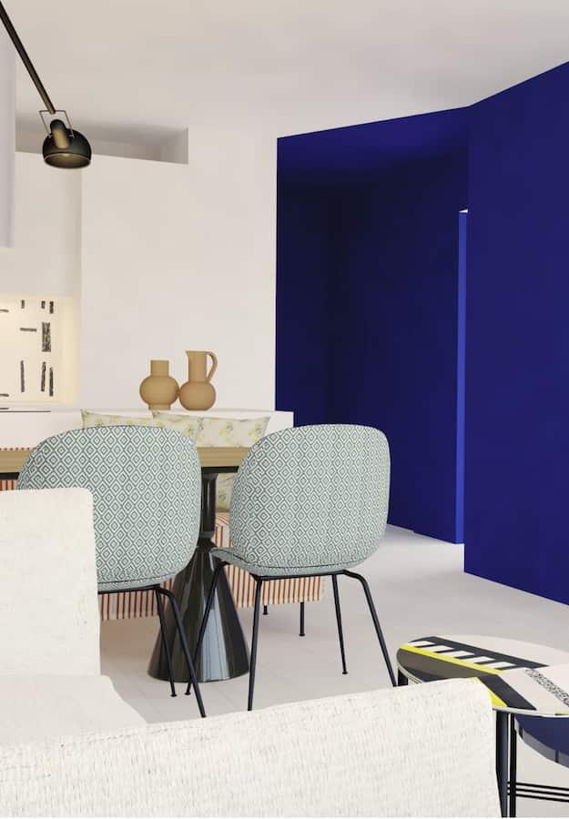 Image 3D d'un projet en cours, un appartement à la Baule. ©Claude Cartier Décoration