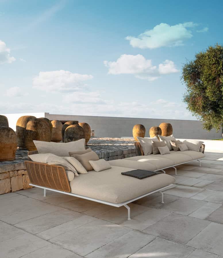 Sofa modulaire Cruise, version alu. Design Ludovica+Roberto Palomba – Talenti-2