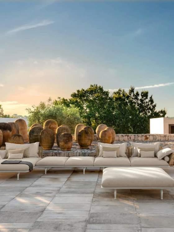 Sofa modulaire Cruise, version alu. Design Ludovica+Roberto Palomba - Talenti