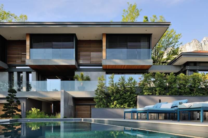 Villa Archidomo, utilisant trois procédés constructifs