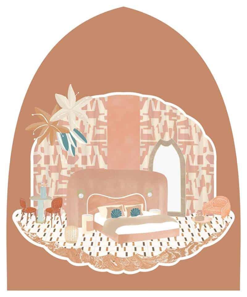 Illustration de Cristina Celestino pour le Palazzo Avino. ©Cristina Celestino Studio Corallo