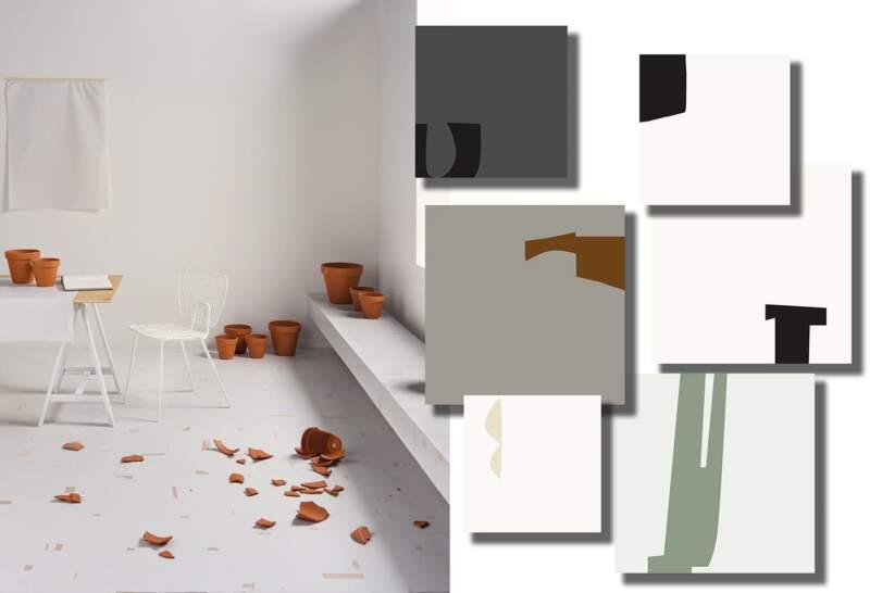 Carreaux grès cérame high digital Pack. 15 x 15 cm. Ép. 10 mm. 5 coloris. 36 motifs. ©41zero42