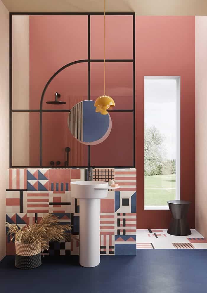 Carreaux Soda. 16 décors. 3 coloris. 25 x 25 cm. Ép. 10 mm. Design Daria Zinovatnaya ©Ceramica Bardelli