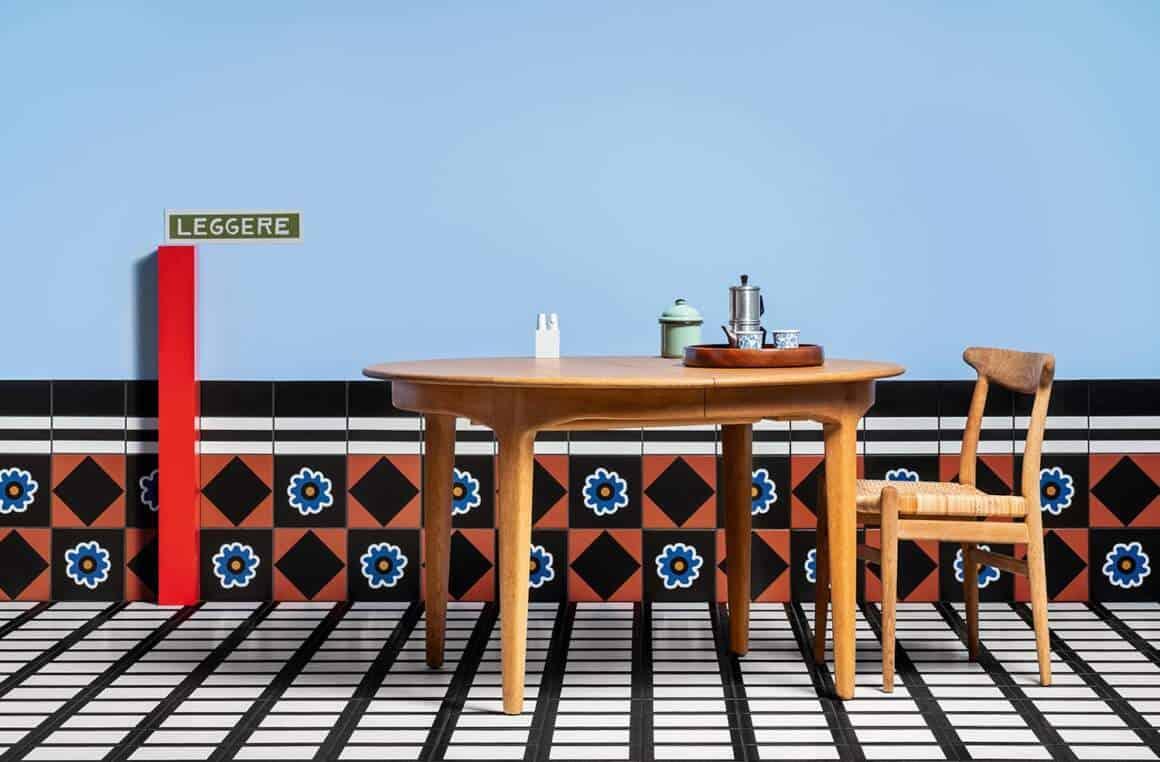 Collection grès cérame Mattonelle Margherita. Design Nathalie du Paquier. 33 motifs. 6 coloris 20,5 x 20,5 cm. Photos Delfino Sisto Legnani. - 3