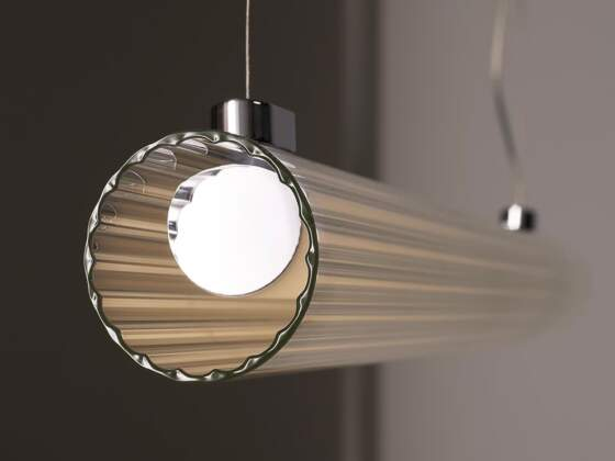 Suspension Io Pendant. Verre extrudé. ©Astro Lighting