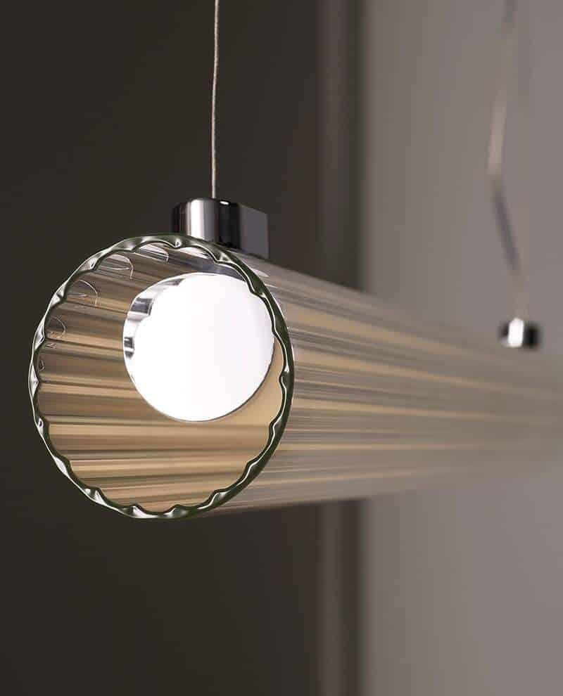 Suspension Io Pendant. Verre extrudé. ©Astro Lighting