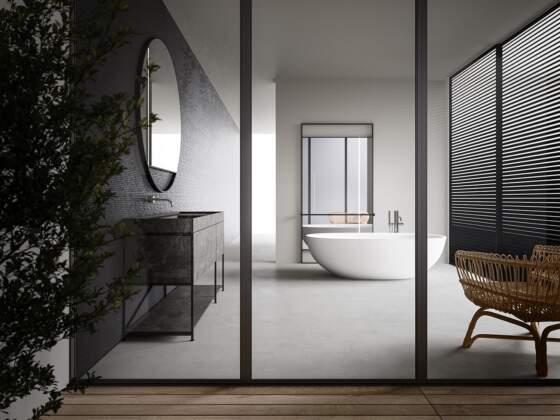 Collection R.I.G. Modules.Design Mikal Harsen. Panneau coulissant Levante (ADL) - Boffi