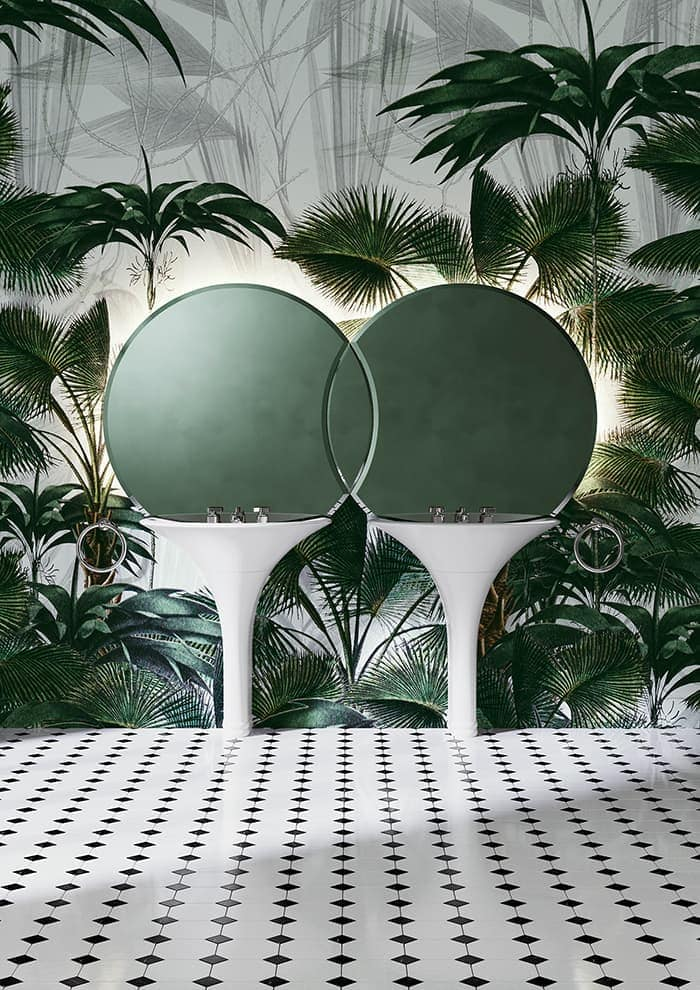 Double vasque colonne Kalos. Design Massimo Iosa Ghini – Devon & Devon