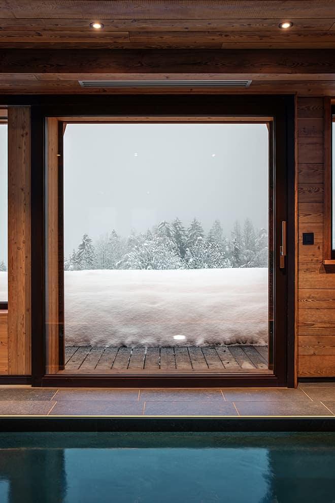 Espace wellness bénéficiant de la vue sur le mont Blanc