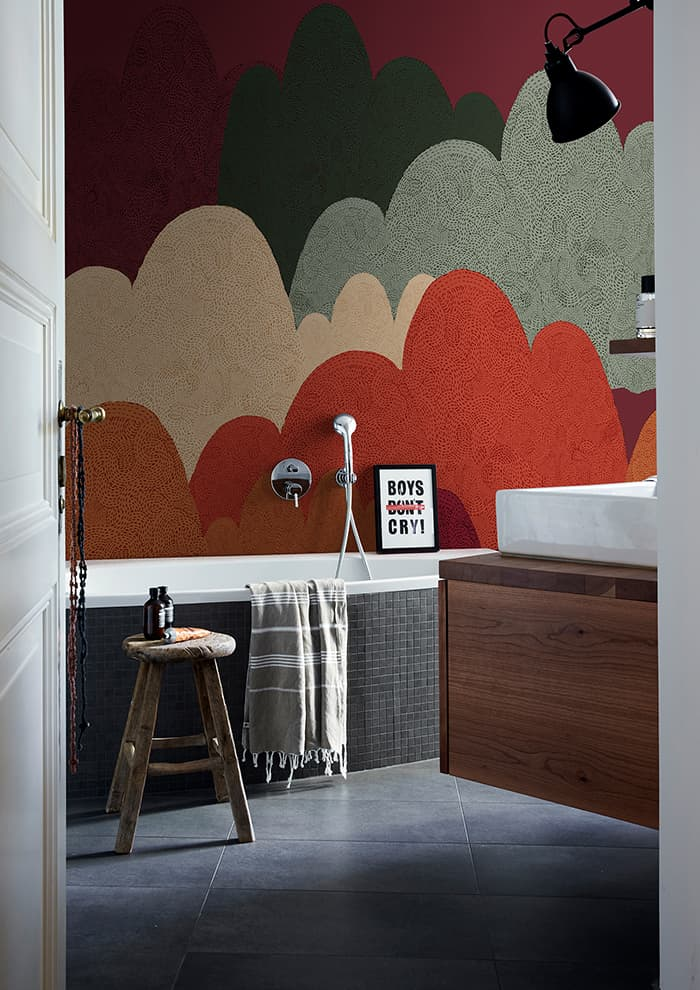 Panoramique Wet System imperméable. Décor The Mountains of Our Childhood – Wall & Decò