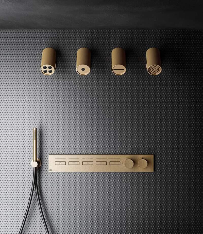 Système de douche thermostatique encastré mural Hi-Fi « High Fidelity » Linear – Gessi