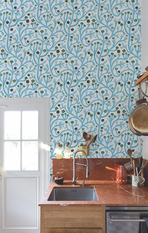 Papier peint intissé Cottage – Design Monika Forsberg – Bien Fait