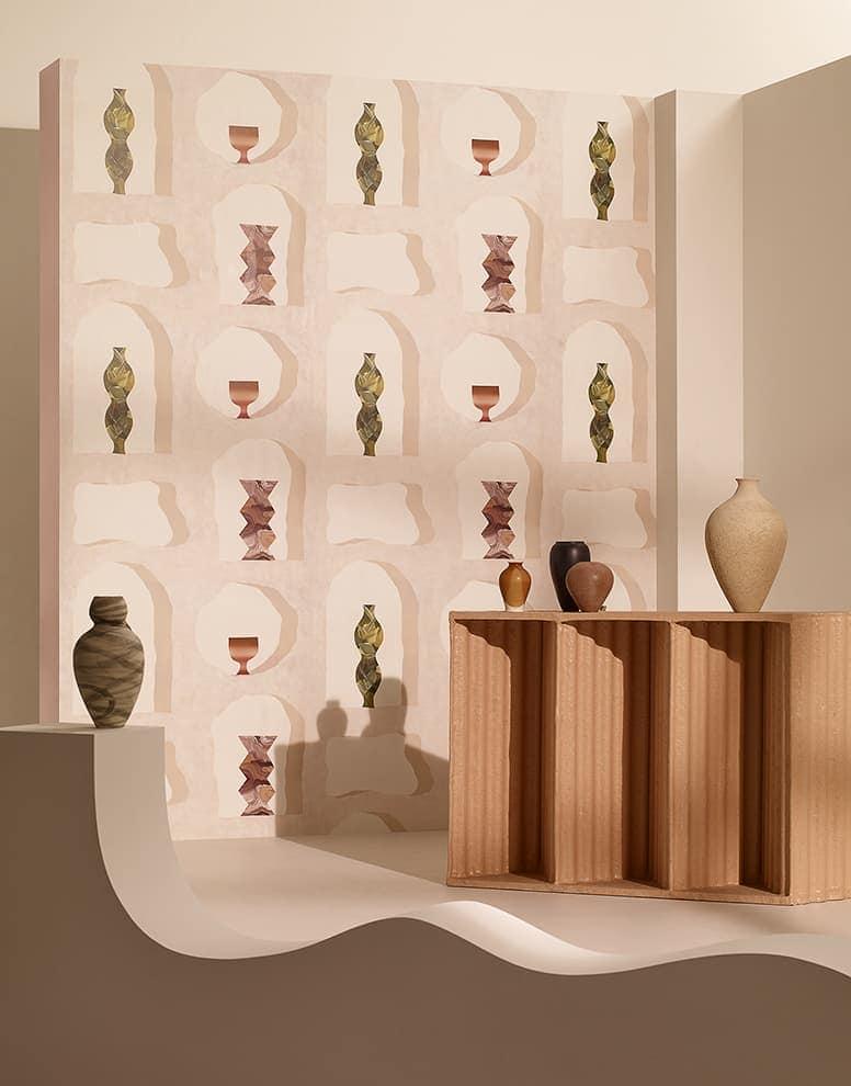 Papier peint intissé L'Abri sous Roche. Design Garance Vallée – Asteré