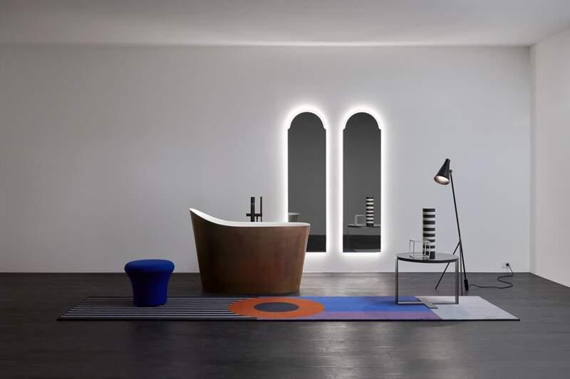 Baignoire Mastello en Liquid Metal – Design Mario Ferrarini – Antoniolupi