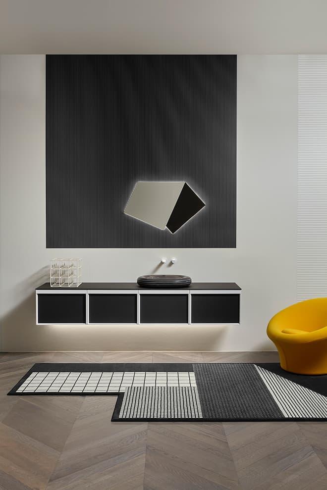 Nouvelle collection Bemade – Design Carlo Colombo – Miroir Specchidicarta – Lavabo Rigati – Antoniolupi