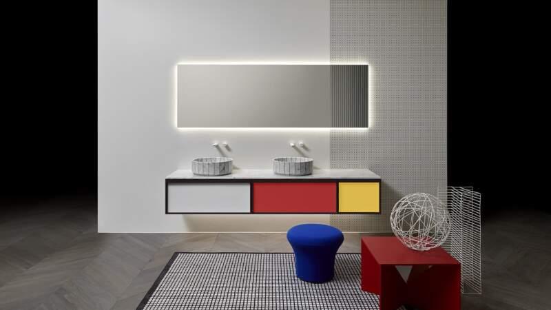 Nouvelle collection Bemade finition Mondrian – Design Carlo Colombo – Antoniolupi