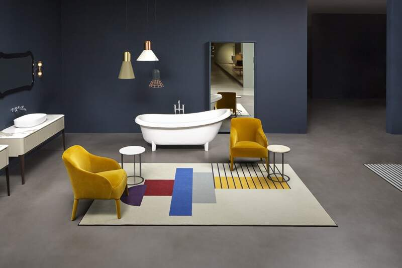 Tapis Geometrie Volanti – Design Paola Pastorini – Antoniolupi