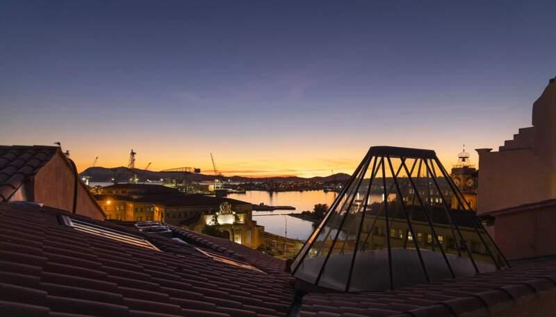 Vue L'Eautel Toulon Port
